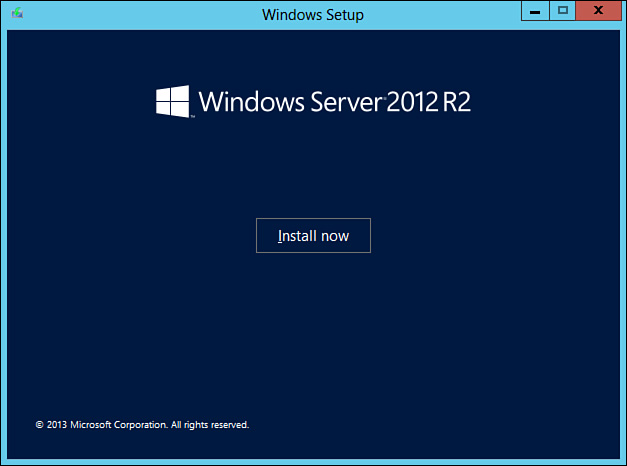 Fresh/Clean Installation of Windows Server 2012