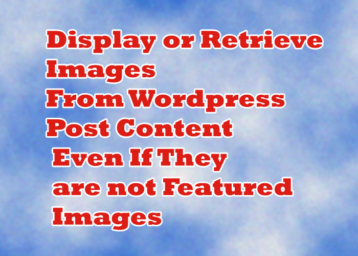 display any image from the post content