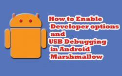 enable usb debuging in android marshmallow