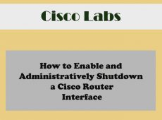 Enabling and Disabling cisco router interfaces