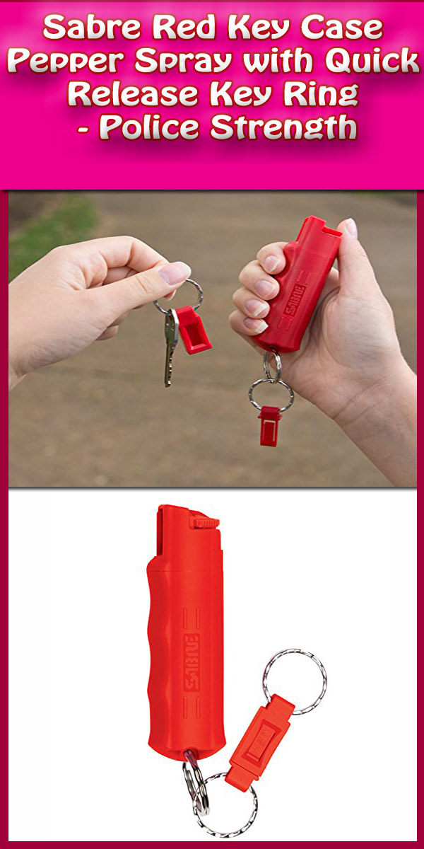 Sabre Red Key Case Pepper Spray, police strength- review